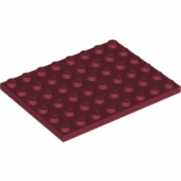 LEGO 6028115 - PLATE 6X8 - NEW DARK RED