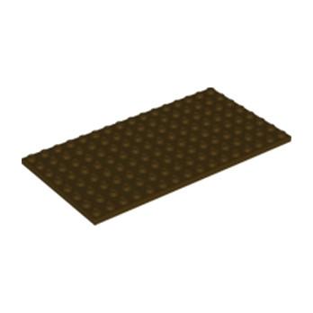 LEGO 6120800 PLATE 8X16 - DARK BROWN