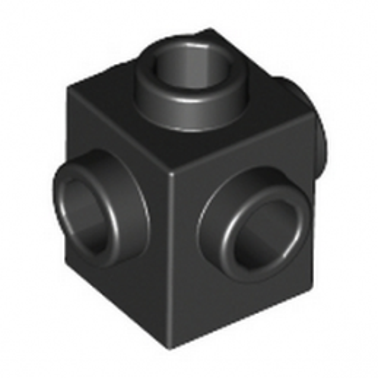 LEGO 473326 BRIQUE 1X1 W. 4 KNOBS - NOIR