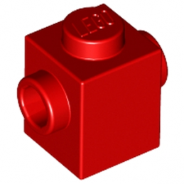 LEGO 6030266 BRIQUE 1X1 W. 2 KNOBS - ROUGE