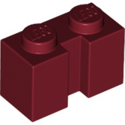 LEGO 6070691  Brique 1X2 W - New Dark Red