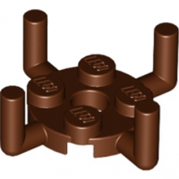 LEGO 4648118 PLATE ROUND 2X2 W. VER.SHAFT - REDDISH BROWN