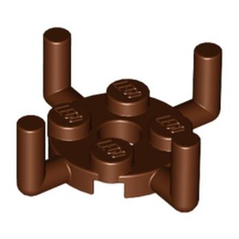 LEGO 4648118 PLATE ROUND 2X2 W. VER.SHAFT - REDDISH BROWN