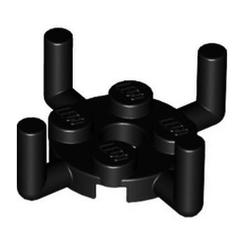 LEGO 4650145 PLATE ROUND 2X2 W. VER.SHAFT - NOIR