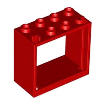 LEGO 4528164 FENETRE 2X4X3 - ROUGE