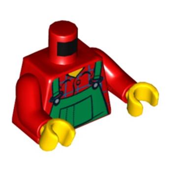 Lego® 4540429 - Torse Salopette Rouge/Vert