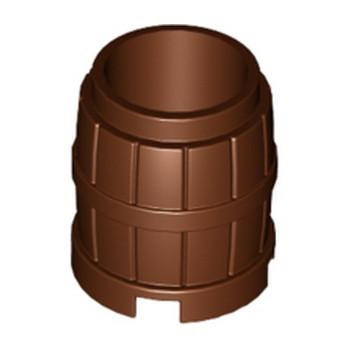 LEGO 6278989 BARIL / TONNEAU 2X2 - REDDISH BROWN