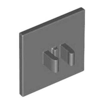 LEGO 4210701 PANNEAU A CLIPS CARRE - DARK STONE GREY