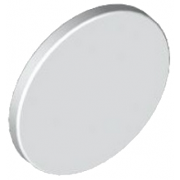 LEGO 6317571 PLATE 2X2 ROUND SIGN WITH PIN - WHITE