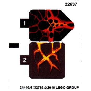 Stickers / Autocollant Lego  Nexo knight - 70313