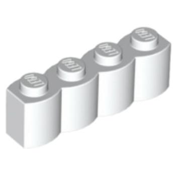 LEGO 6028131 BRIQUE PALISSADE 1X4 - BLANC