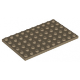LEGO 6096215 - PLATE 6X10 - SAND YELLOW