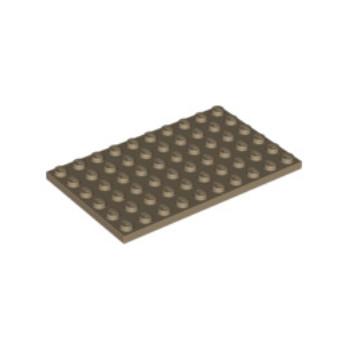 LEGO 6096215 - PLATE 6X10 - SAND YELLOW lego-6096215-plate-6x10-sand-yellow ici :