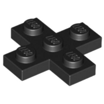 LEGO 6097283 CROIX PLATE 3x3  - NOIR