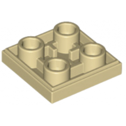 LEGO 6013081 PLATE LISSE 2x2 INVERSE - BEIGE