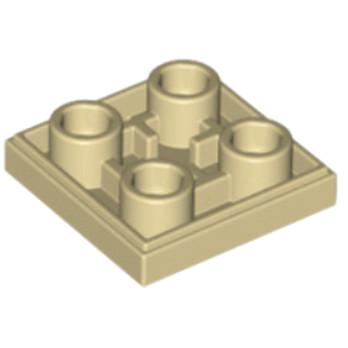 6013081- Plate Lisse 2x2 Inversé -  Beige