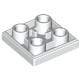 LEGO 6013866 PLATE LISSE 2x2 INVERSE - BLANC lego-6013866-plate-lisse-2x2-inverse-blanc ici :