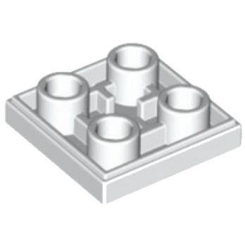 LEGO 6013866 - Plate Lisse 2x2 Inversé - Blanc