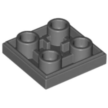 LEGO 6013082 PLATE LISSE 2x2 INVERSE - DARK STONE GREY