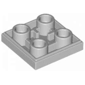 LEGO 6132886 PLATE LISSE 2x2 INVERSE - MEDIUM STONE GREY