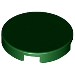 LEGO 6092771 PLAT LISSE 2X2 ROND - EARTH GREEN