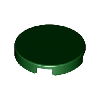 6092771 - Plate Lisse 2X2, Rond - Vert Foncé