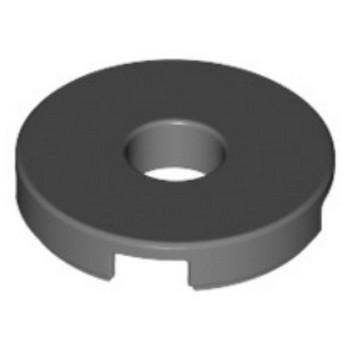 LEGO 6055313 - PLATE LISSE ROND + TROU - DARK STONE GREY
