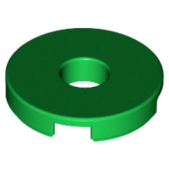 LEGO 6074954 PLATE LISSE 2X2 + TROU - DARK GREEN
