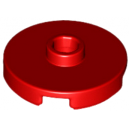 LEGO 6132541 - Plate Rond W. 1 KNOB  - ROUGE