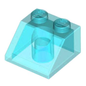 LEGO 6070495 - TUILE 2X2/45° -  BLEU TRANSPARENT