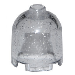 LEGO 30151 CLOCHE 2X2X 1 2/3 - TRANSPARENT GLITTER
