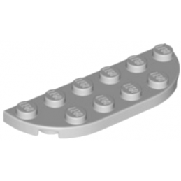 LEGO 6105964 1/2 ROND 2X6 - MEDIUM STONE GREY