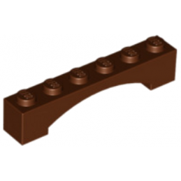 LEGO 4655611 BRIQUE 1X6 W/INSIDE BOW - REDDISH BROWN