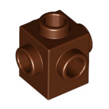 LEGO 4528447 - BIQUE 1X1 W. 4 KNOBS - REDDISH BROWN