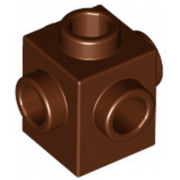 LEGO 4528447 - BIQUE 1X1 W. 4 KNOBS - REDDISH BROWN