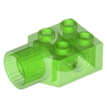 LEGO 6154308 -BRICK 2X2 Ø4.85 FEMALE - Vert Fluo Transparent