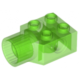 LEGO 6154308 -BRIQUE 2X2 Ø4.85 FEMALE - VERT FLUO TRANSPARENT