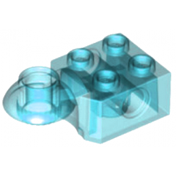 LEGO 6032799 - BRICK 2X2 Ø4.85 HORIZ. SNAP - Transparent Bleu