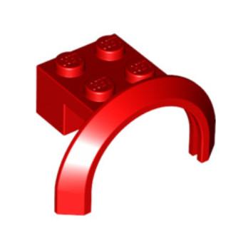 LEGO 4294734 GARDE BOUE 2X4X1- ROUGE