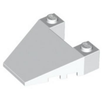 LEGO 4629916 ROOF TILE 4X4 ANGLE - BLANC