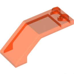 LEGO 6120916 PARE BRISE 2X5X1 1/3 - ORANGE FLUO TRANSPARENT