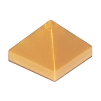 LEGO 6129416  TUILE PYRAMIDE 1X1X2/3  - WARM GOLD