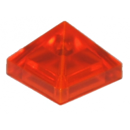 LEGO 6127035 TUILE PYRAMIDE 1X1X2/3  - ORANGE FLUO TRANSPARENT