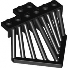 6097109 - TRAIN COWCATCHER, 6X6X2 2/3 - Noir