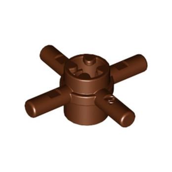 LEGO 4252456 COMBI HUB W. STICK Ø 3.2 - REDDISH BROWN
