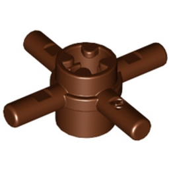 LEGO 6316697 3.2 SHAFT ELEMENT W/ CROSS HOLE - REDDISH BROWN