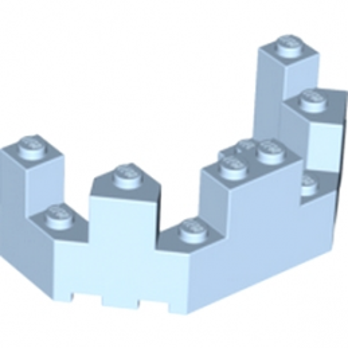 LEGO 6056246 - balcon / haut de Tourelle - Light Royal Blue