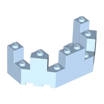 LEGO 6056246 BALCON / TOURELLE 4X8X2 - LIGHT ROYAL BLUE
