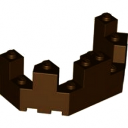 LEGO 6135006 BALCON / TOURELLE 4X8X2 - DARK BROWN