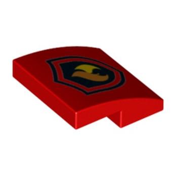 LEGO 6132565 PLAQUE DE POMPIER 2X2X2/3
